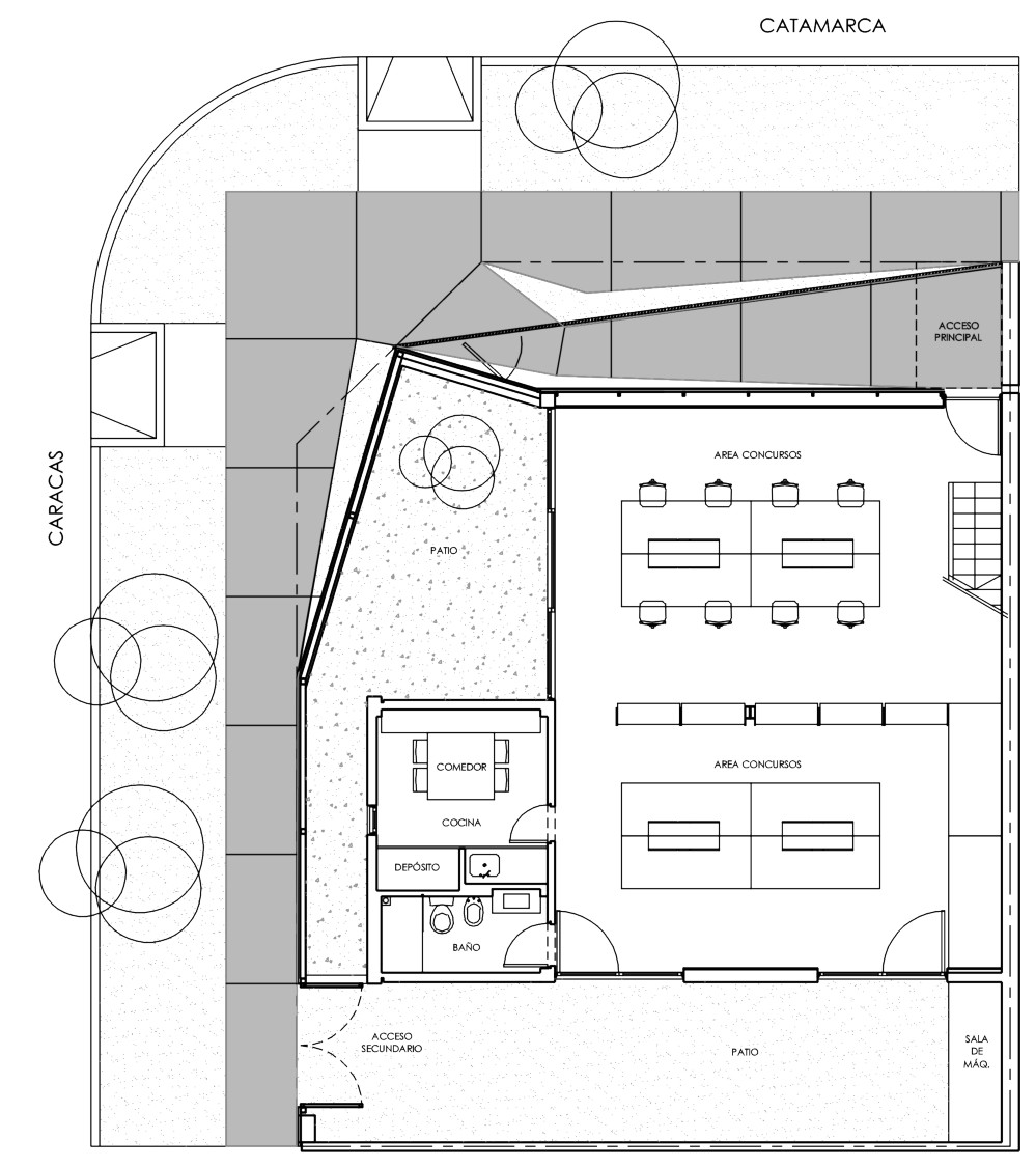 Galer a de oficina estudio arquitectura alric galindez for Plantas de oficinas arquitectura