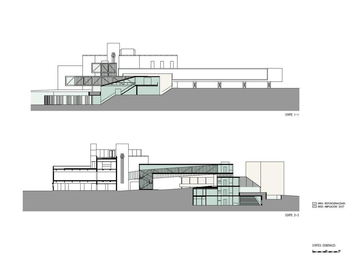 Museo provincial de bellas artes emilio caraffa lucio for Cortes arquitectonicos