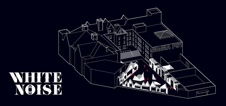 'White Noise' YAP MoMA PS1 Proposal / French 2D, Courtesy of French 2Design