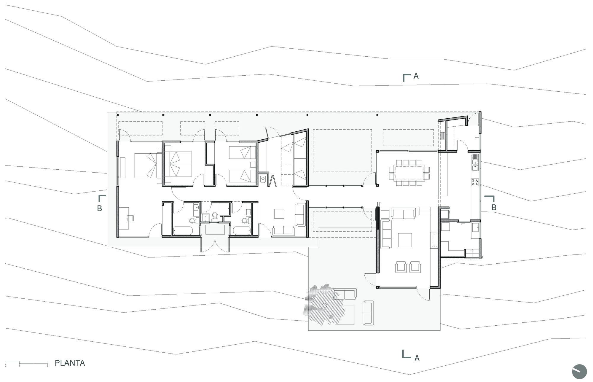 Casa la campana alejandro dumay francisco vergara a for Medidas de una oficina arquitectura