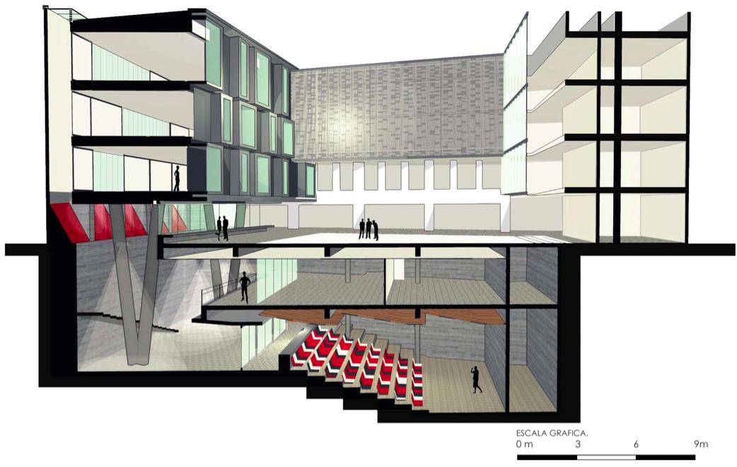 Galer a de ampliaci n facultad de arquitectura arte y for Arquitectura nota de corte