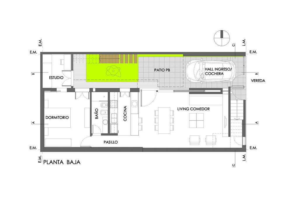 Casa t vismara corsi arquitectos plataforma arquitectura for Plantas de arquitectura