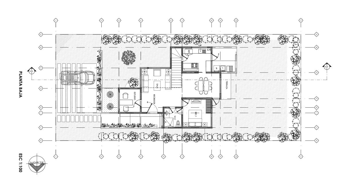 Galer a de casa olgu n cotaparedes arquitectos 14 for Ejes arquitectonicos