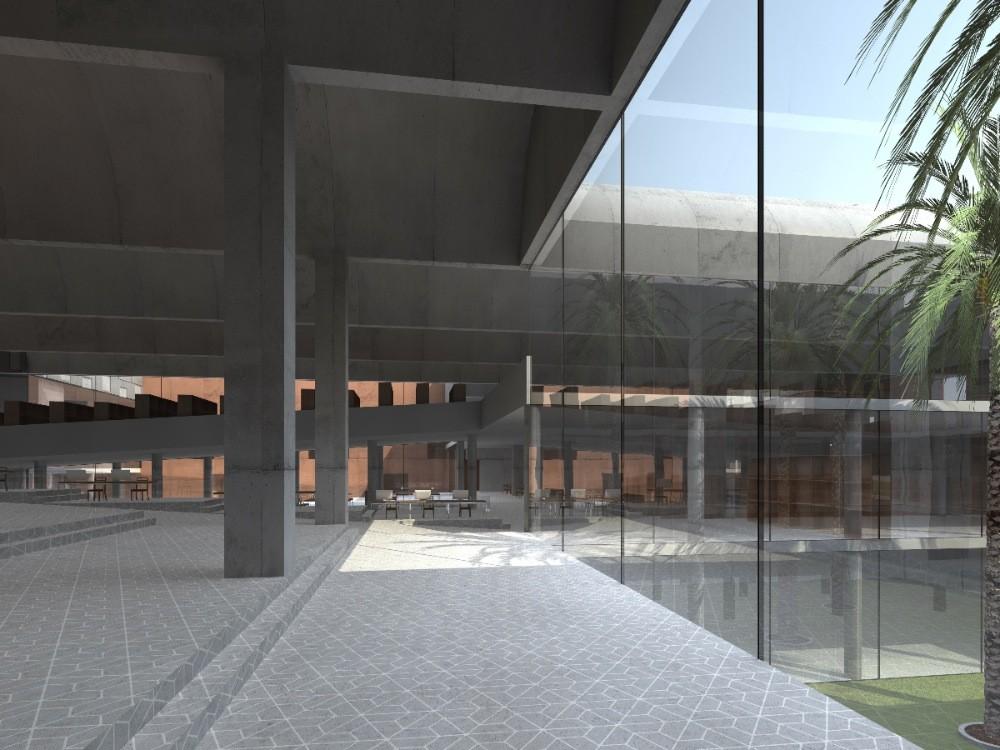 Galer a de librer a universitaria njiric arhitekti for Libreria universitaria