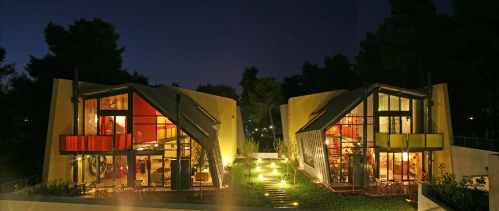 Dos Casas en Anixi / React Architects, © Elias Handelis
