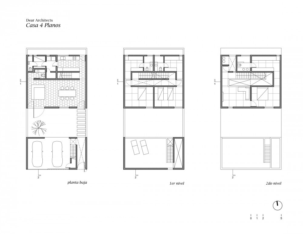 Casa 4 Planos Dear Architects Plataforma Arquitectura