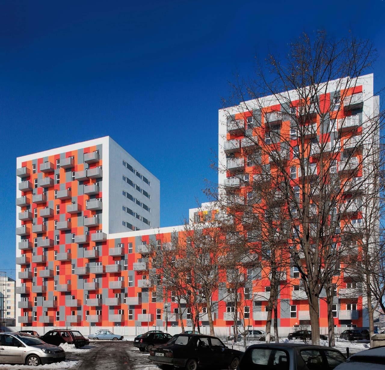Conjunto residencial de alta densidad / Solano & Catalan, © Andrei Mârgulescu