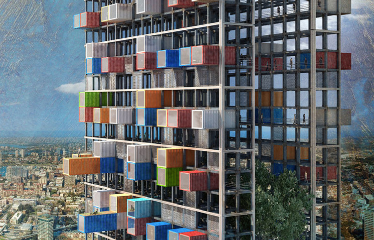 Rascacielos Nómade / Luca D'Amico + Luca Tesio, © Luca D'Amico + Luca Tesio