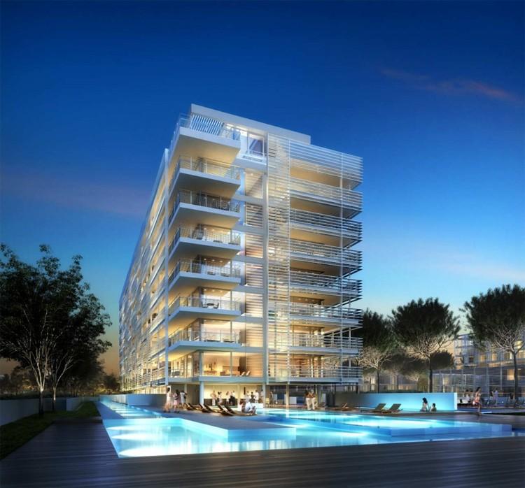 En Construcción: Complejo Jesolo Lido – Casas de Veraneo / Richard Meier & Partners, cortesía de DBOX