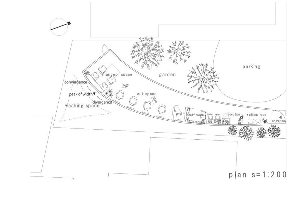 Tienda curva studio velocity plataforma arquitectura - Planta de salon ...