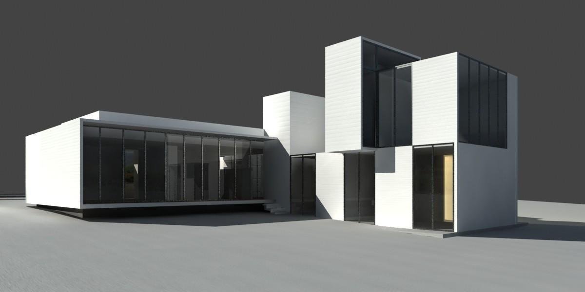 Galer a de casa a moure rivera arquitectos 16 for Casa minimalista maqueta