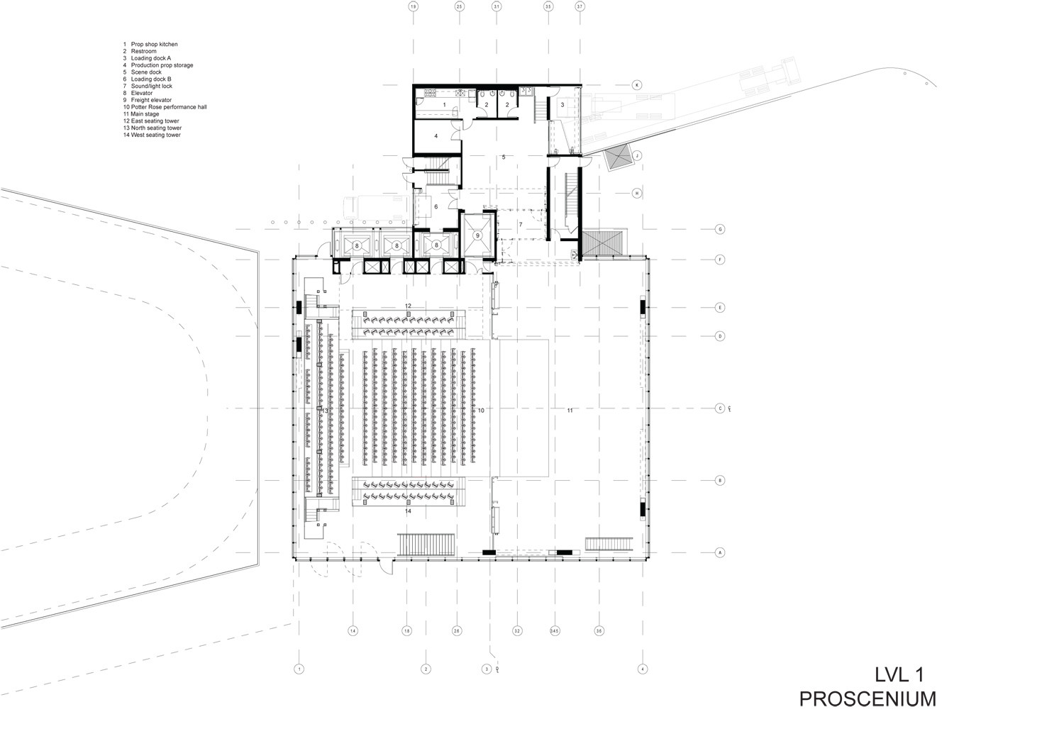 Teatro dee and charles wyly rex oma archdaily m xico for 512 plan