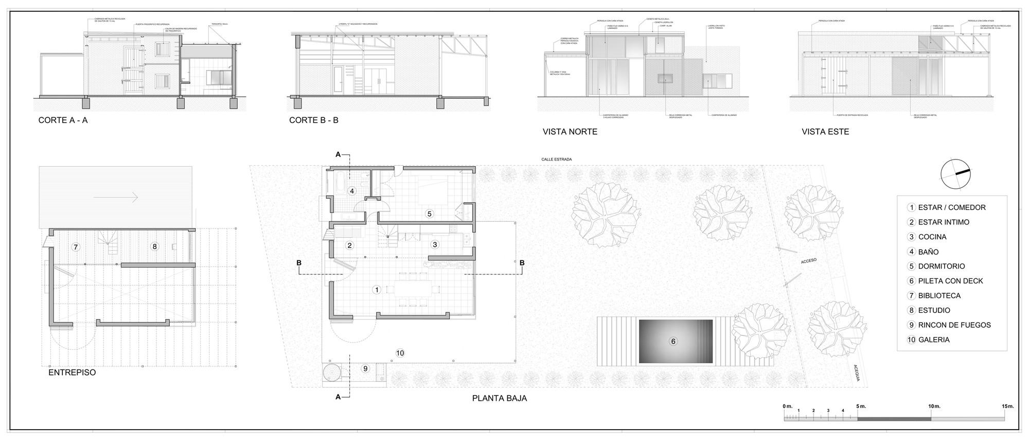 Casa paulita diego kotlik plataforma arquitectura - Planimetria casa ...