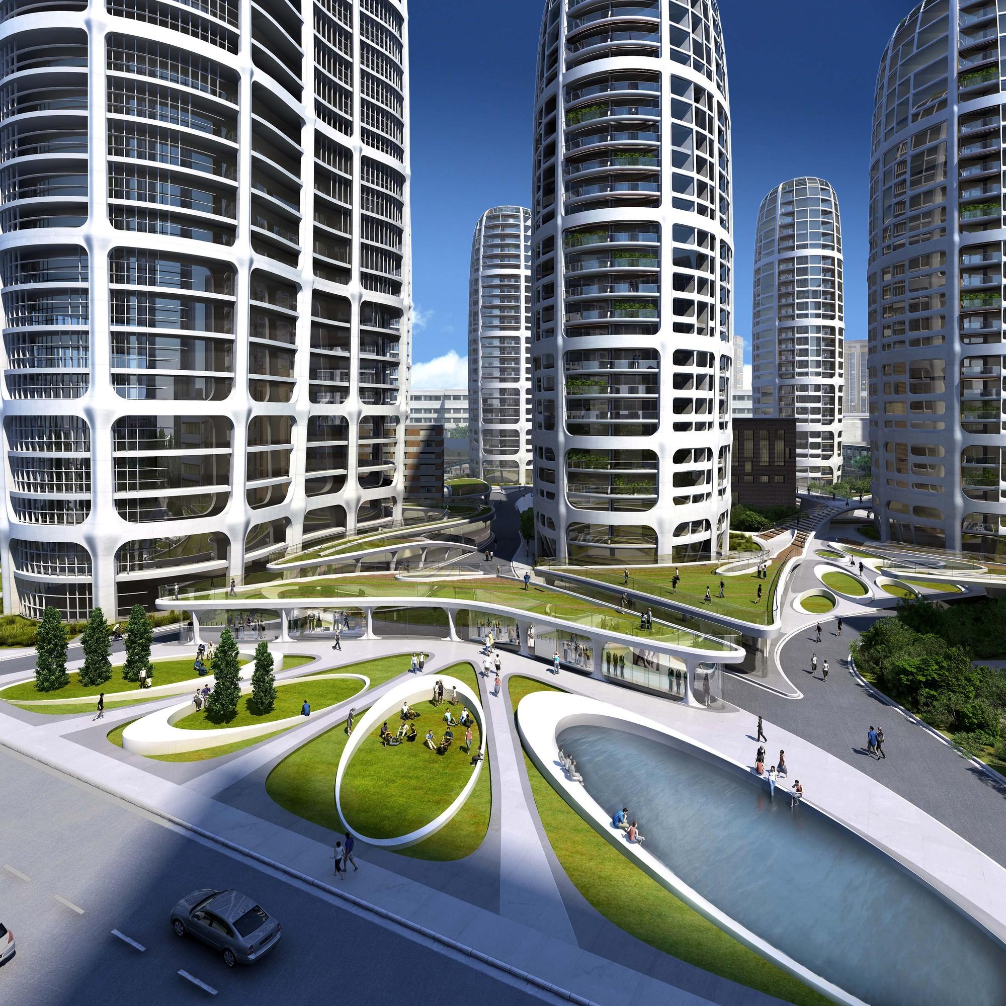 Bratislava Culenova New City Center Proposal / Zaha Hadid Architects