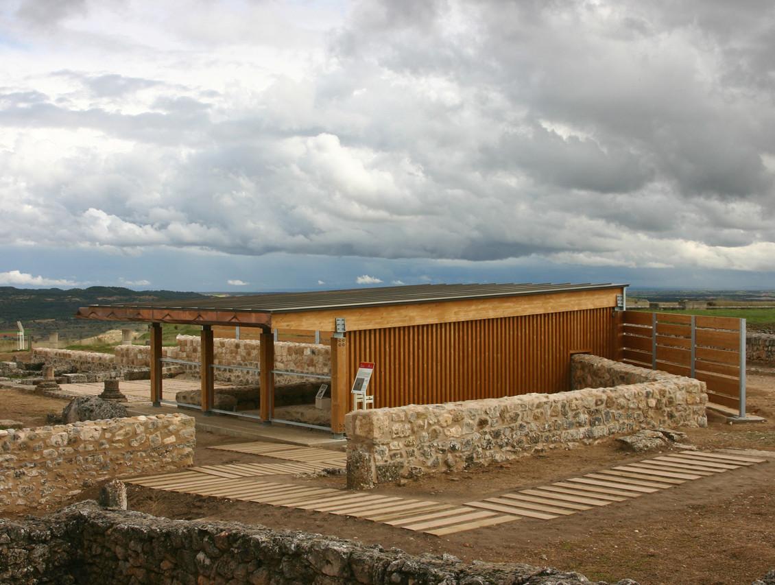 Adecuación de las Estructuras del Yacimiento Arqueológico de la Ciudad Romana de Clunia / a3gm, © a3gm