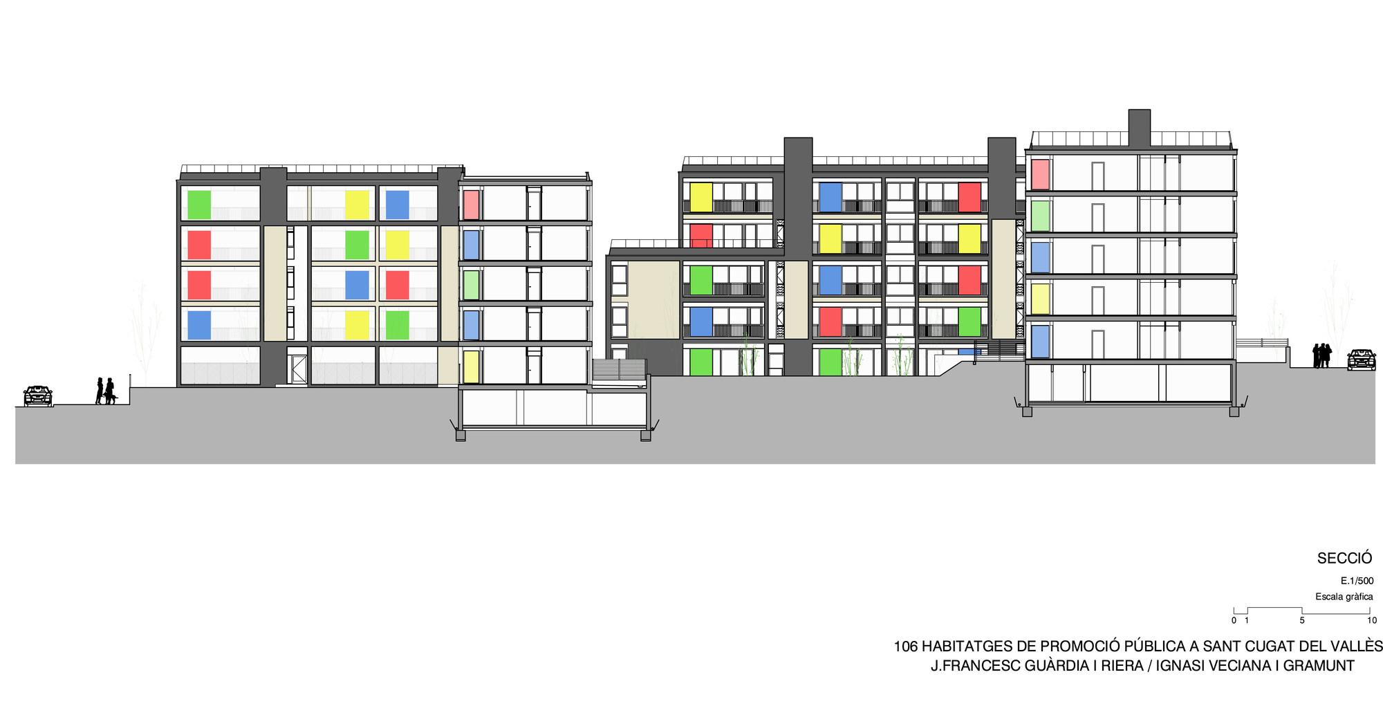 106 viviendas sociales en sant cugat gu rdia veciana - Arquitectura sant cugat ...