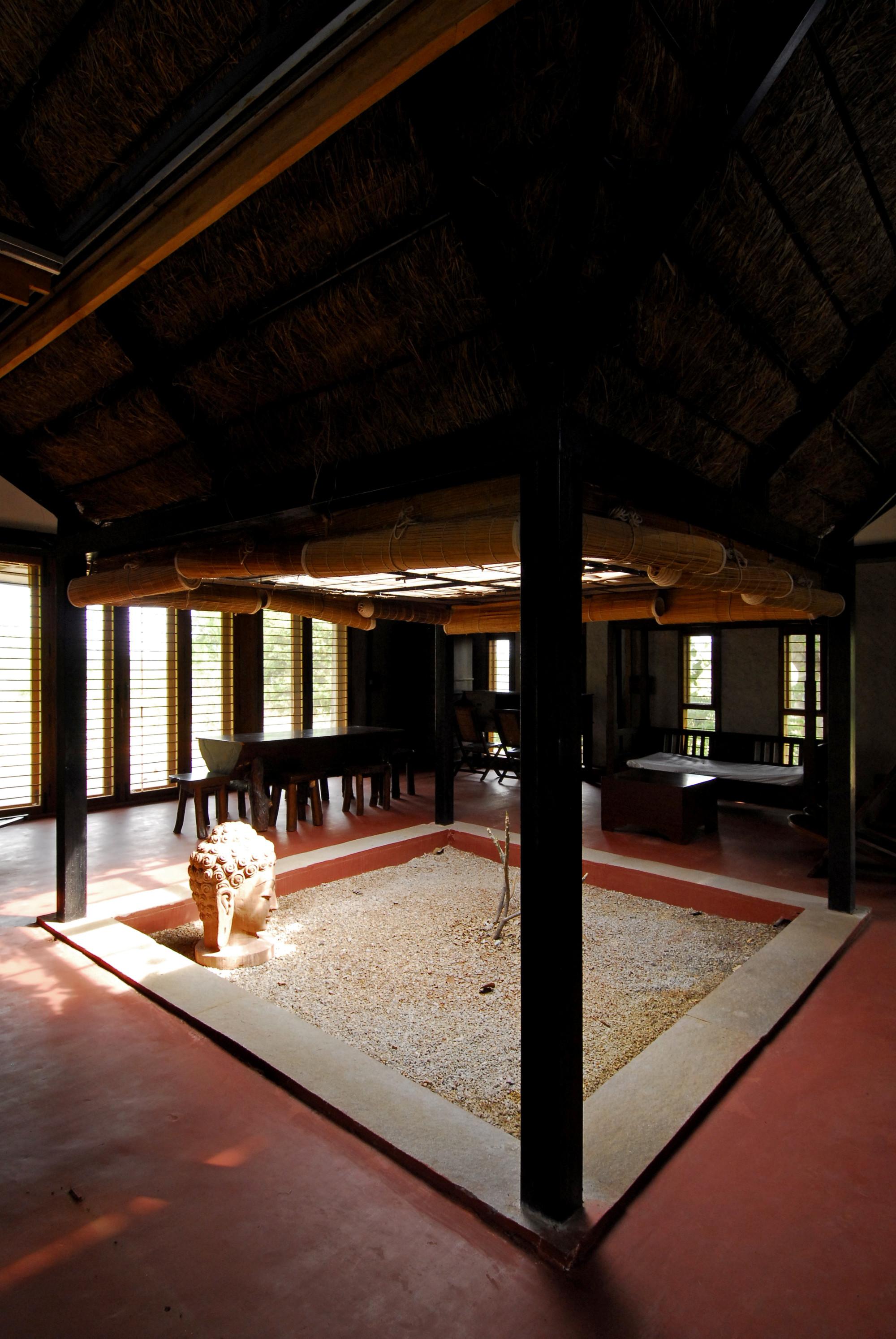 Gallery of bapagrama stone house pragrup 2 for Indian house design com
