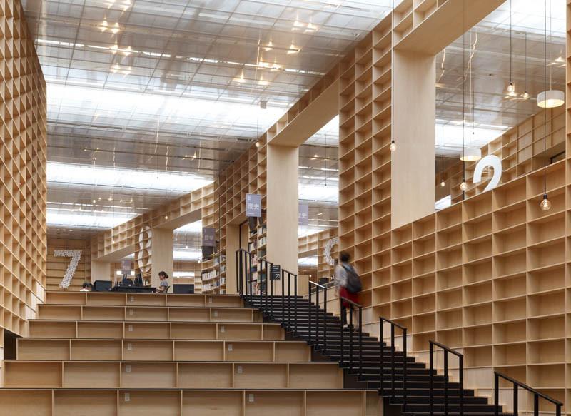 Biblioteca y museo de la facultad de artes de musashino for Biblioteca arquitectura