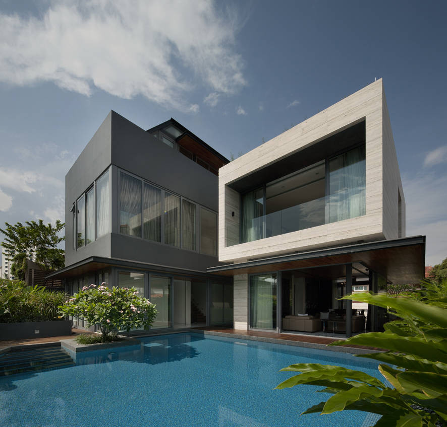 Travertine Dream House / Wallflower Architecture + Design, © Jeremy San