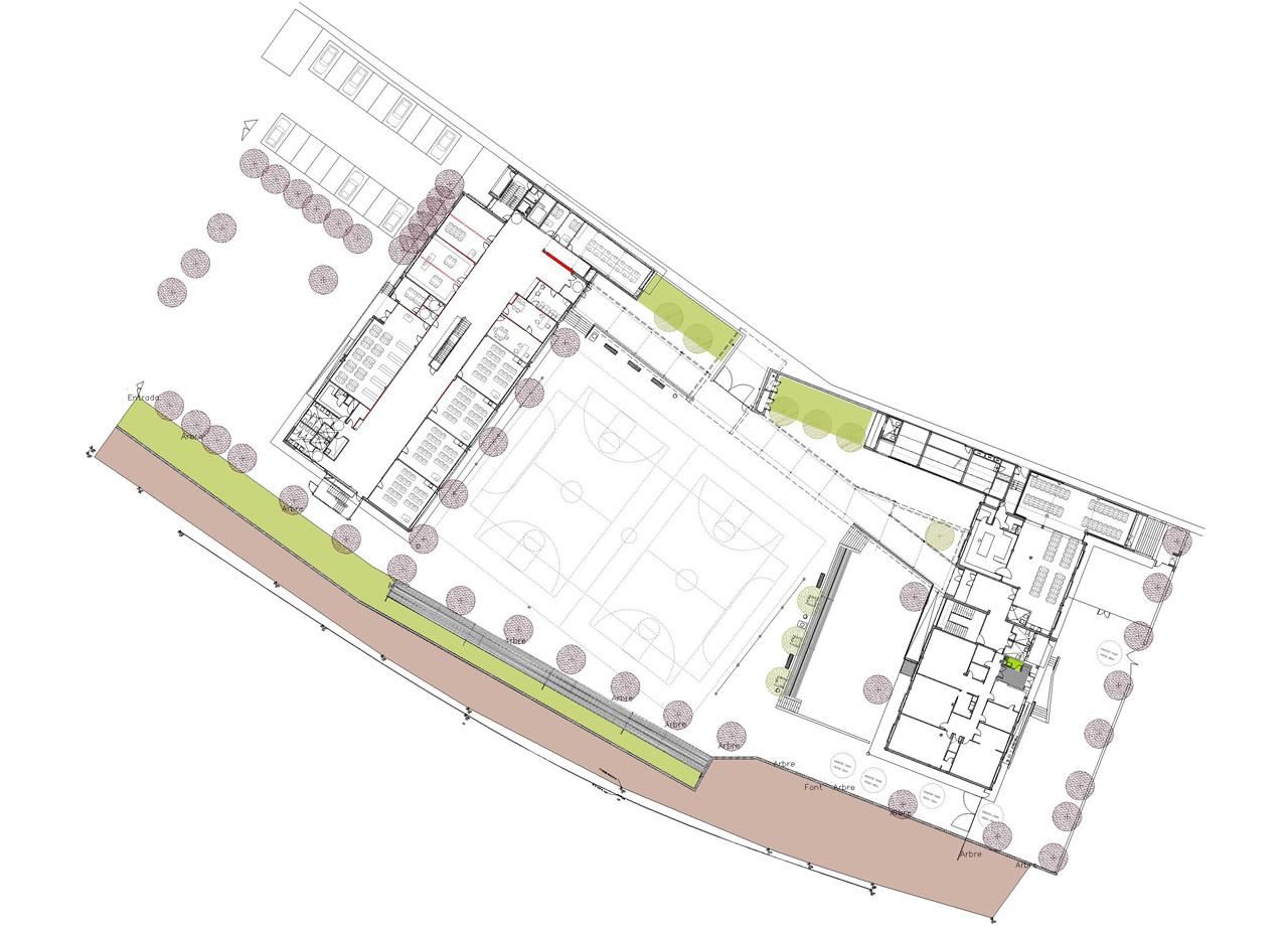 Escuela infantil y primaria alfarr s edifica arquitectes for Planos mobiliario escolar peru