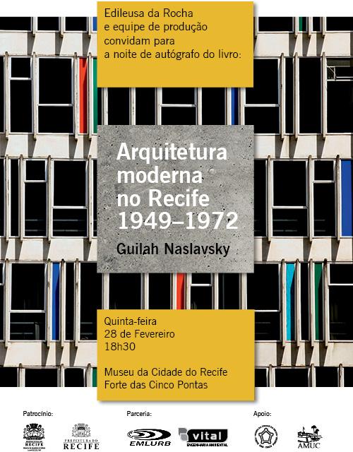 Lançamento do livro: Arquitetura Moderna no Recife : 1949-1972