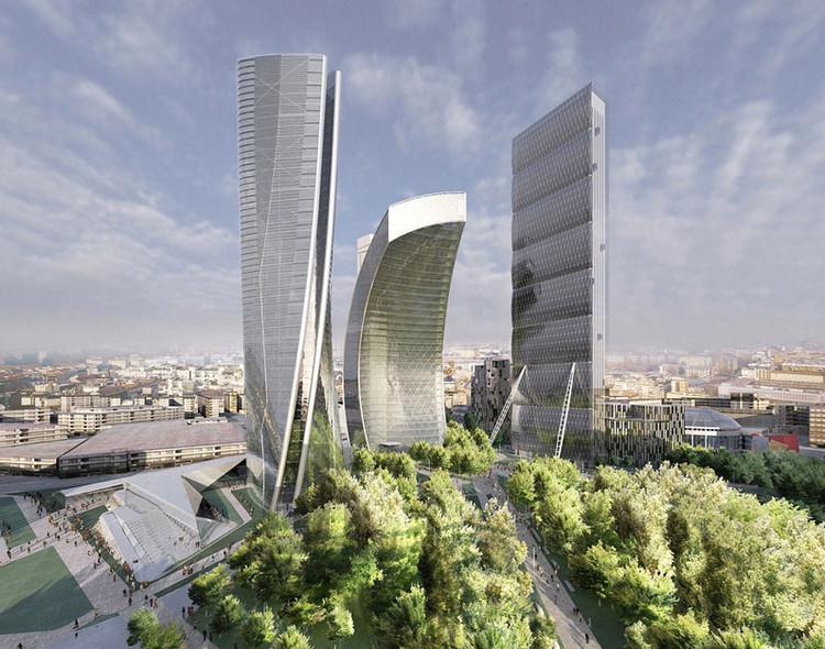 Em progresso: City Life Milão/ Zaha Hadid Architects, © Zaha Hadid Architects, Courtesy of CityLife