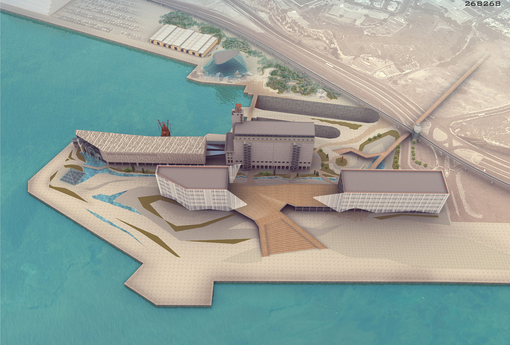 Piraeus Museum for Underwater Antiquities Competition Entry / Various Architects, Courtesy of Khvil Anastasia, Ivanova Elena, Fadeeva Alina, Rudikov Aleksei, and Spiridon Mellos