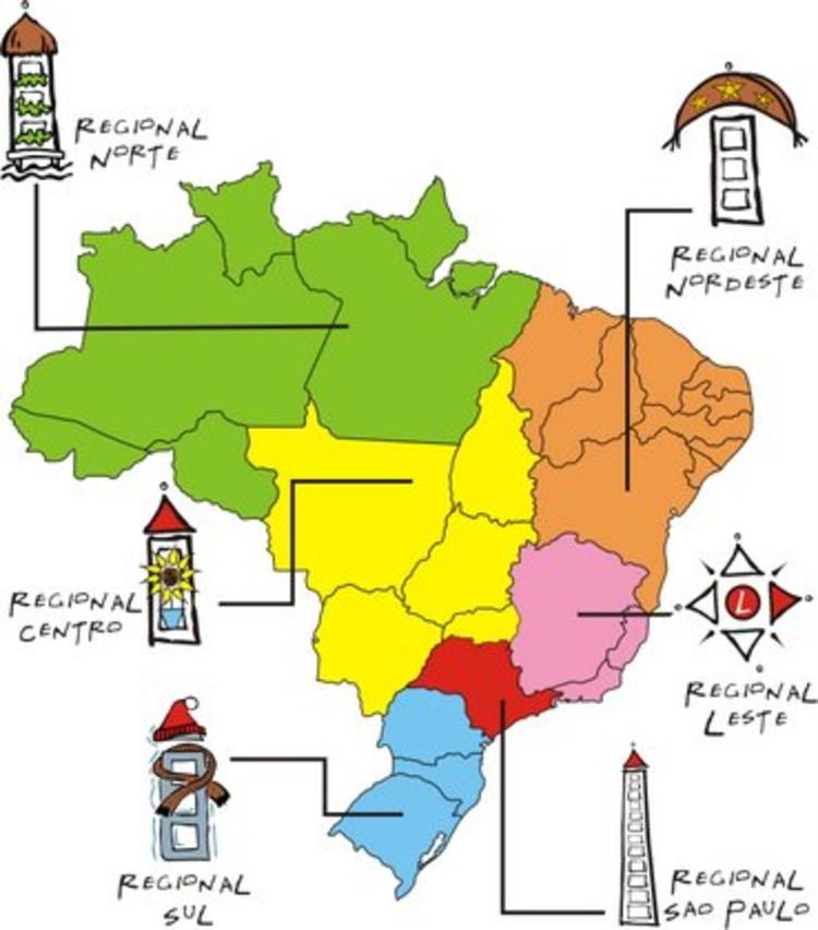 Encontros Regionais de Estudantes de Arquitetura 2013, Regionais da FeNEA