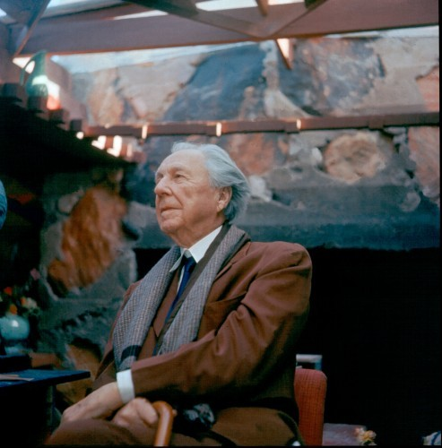 """Frank Lloyd Wright by JOHN AMARANTIDES, 1955. """"The Frank Lloyd Wright Foundation Archives (The Museum of Modern Art 