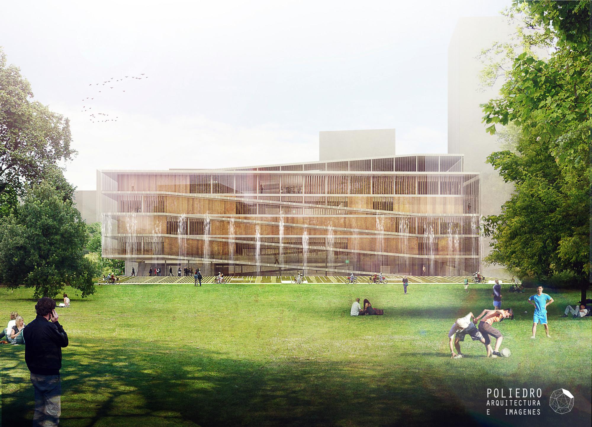 Visualización en Arquitectura: Poliedro, Concurso Museo en Ho Chi Minh. 2012. Arquitectos: IDOM