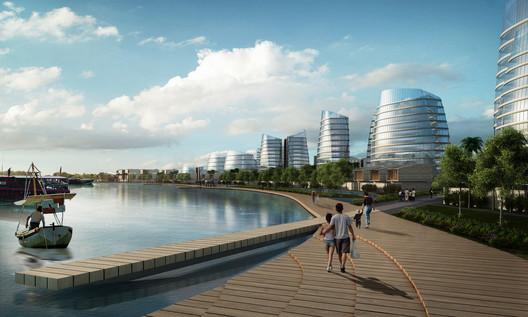 riverwalk and residential