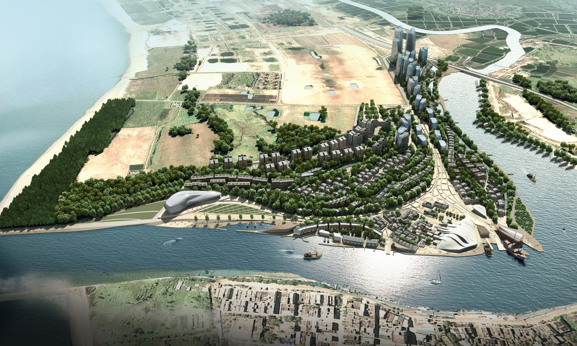Propuesta Centro Cultural Oceanico Tanmen / Office for Architectural Culture, Cortesía de Office for Architectural Culture