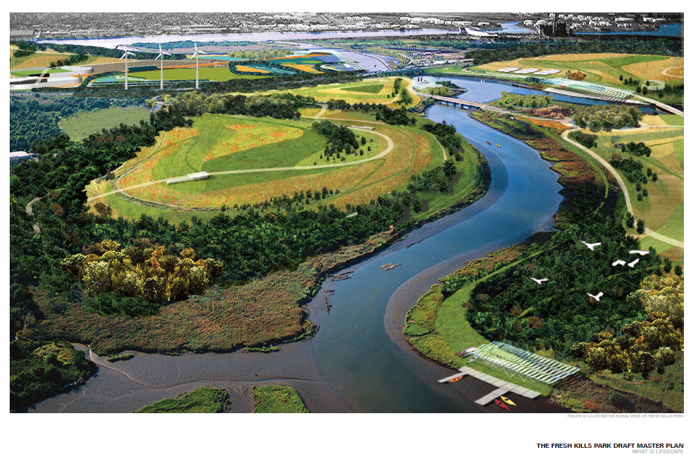 Landfill Reclaimation: Fresh Kills Park Develops as a Natural Coastal Buffer and Parkland for Staten Island, Courtesy of Department of Parks and Recreation - Draft Master Plan