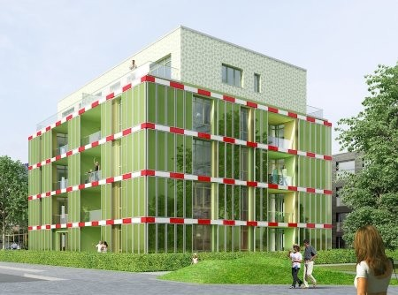 World's First Algae Bioreactor Facade Nears Completion, BIQ via GOOD