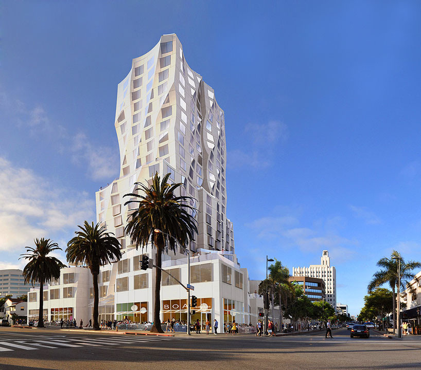 Gehry Designs Mixed-Use Tower for Downtown Santa Monica, © Gehry Partners