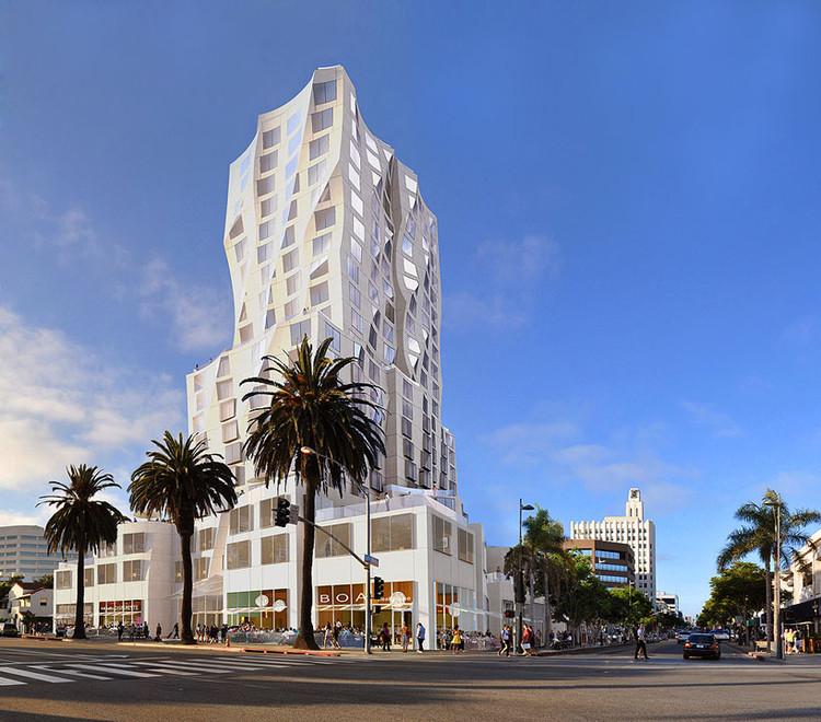 Gehry projeta uma torre de uso misto no centro de Santa Monica, © Gehry Partners