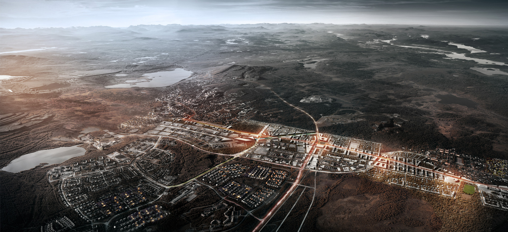Relocation of the City Center of Kiruna Winning Proposal / White Architects, Courtesy of White Architects