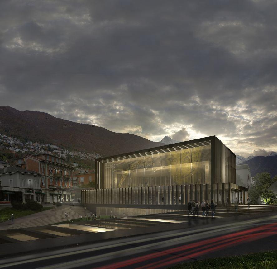 Cinema Hall of Locarno Film Festival Proposal / Mauro Turin Architectes, Courtesy of Mauro Turin Architectes