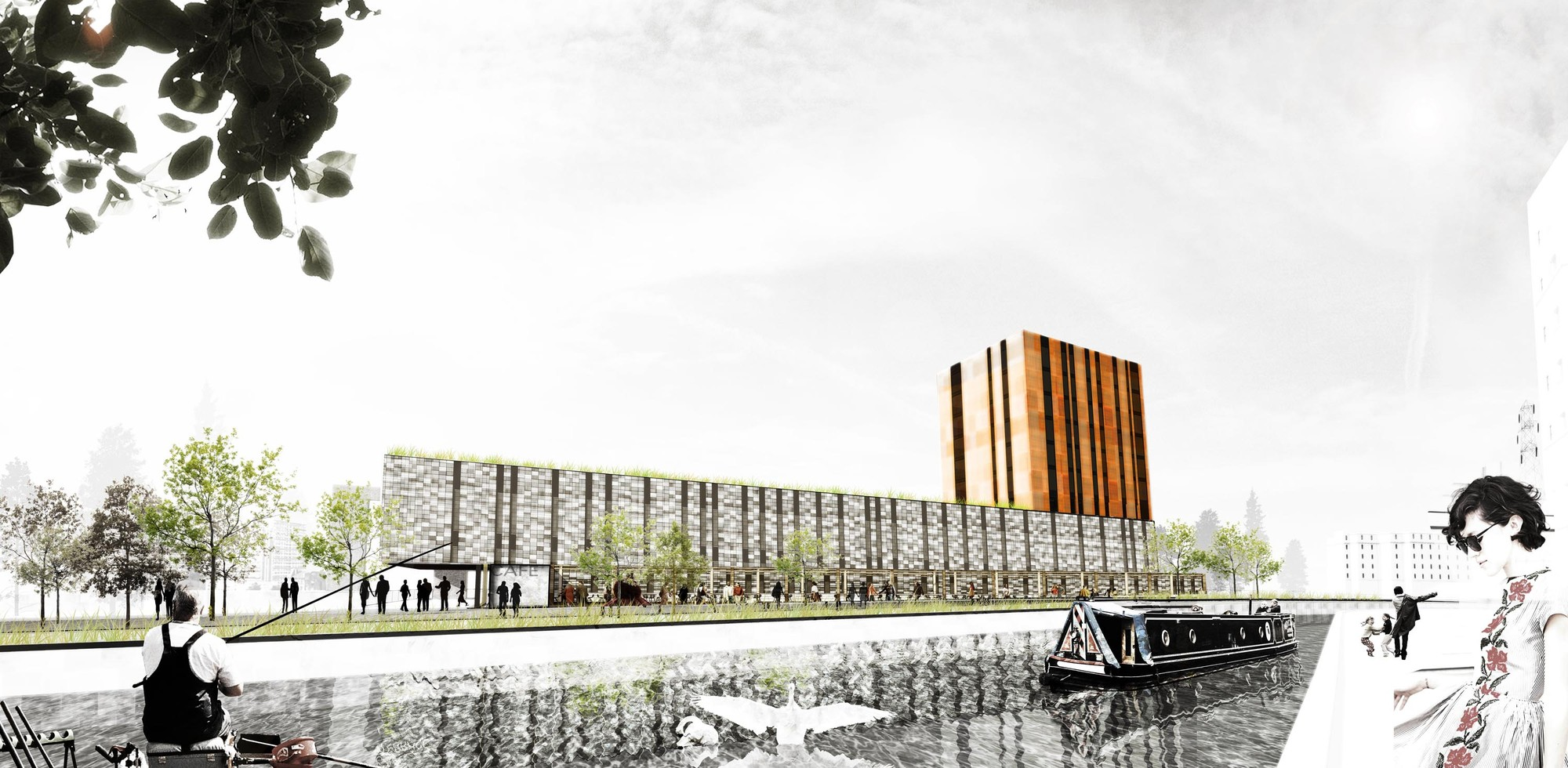 Speirs Locks Student Campus Proposal / Stallan-Brand, Courtesy of Stallan-Brand