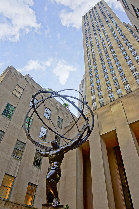 Where Did All the Patrons Go?, The Statue of Atlas at Rockefeller Center. Image © Jean-Cristophe Benoist