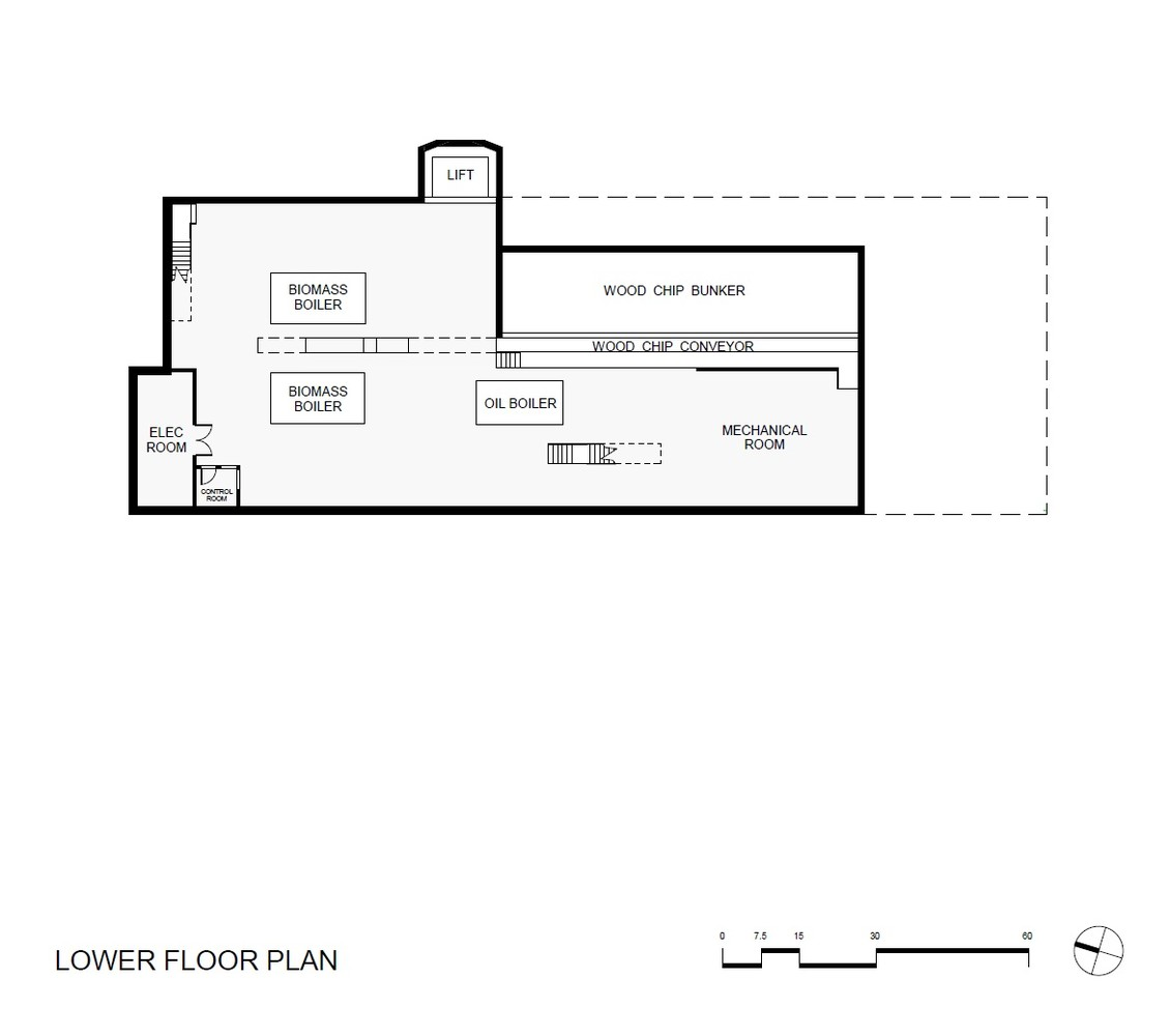 Gallery Of Hotchkiss Biomass Power Plant Centerbrook Architects Boiler Schematic Plantlower Floor Plan