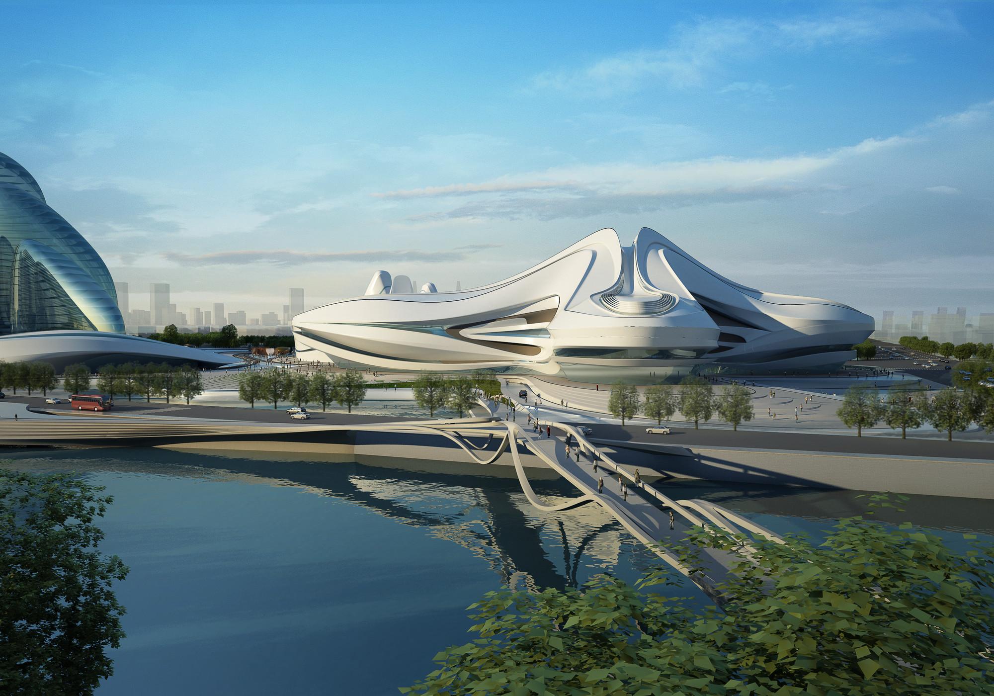 Centro cultural internacional changsha meixihu zaha for Arquitectura zaha hadid