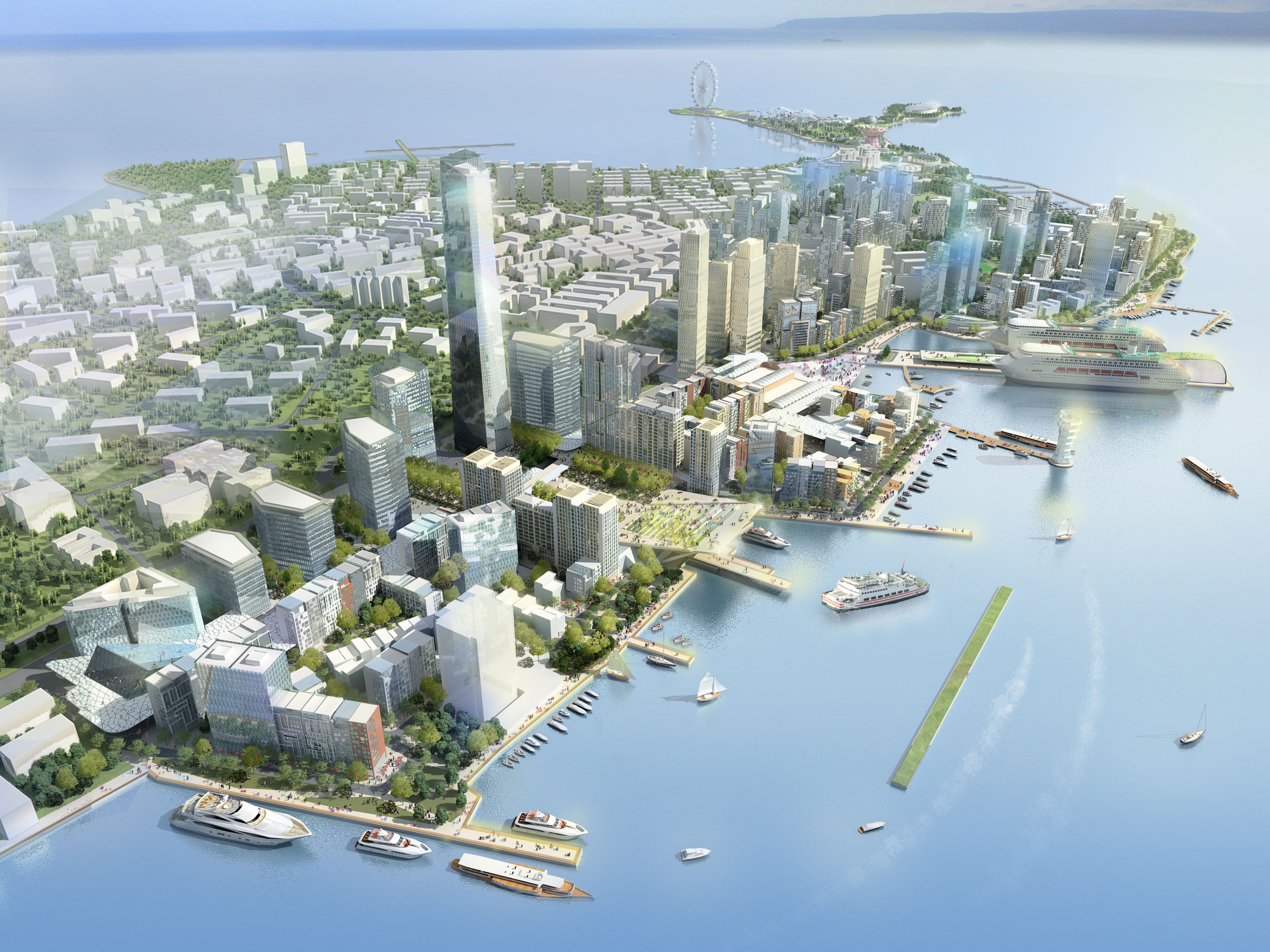 Qingdao Harborfront Redevelopment Proposal / EE&K a Perkins Eastman Company, Courtesy of EE&K a Perkins Eastman Company