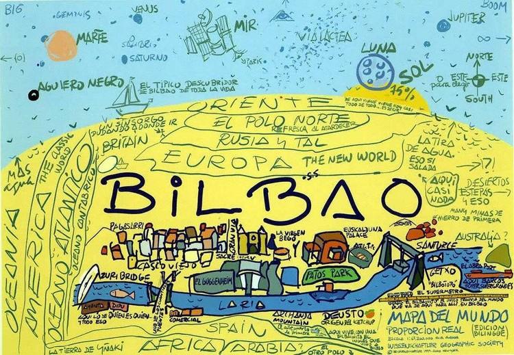 Bilbao: a arte como propulsora da cidade, Mapa mundi, por Jek Larson