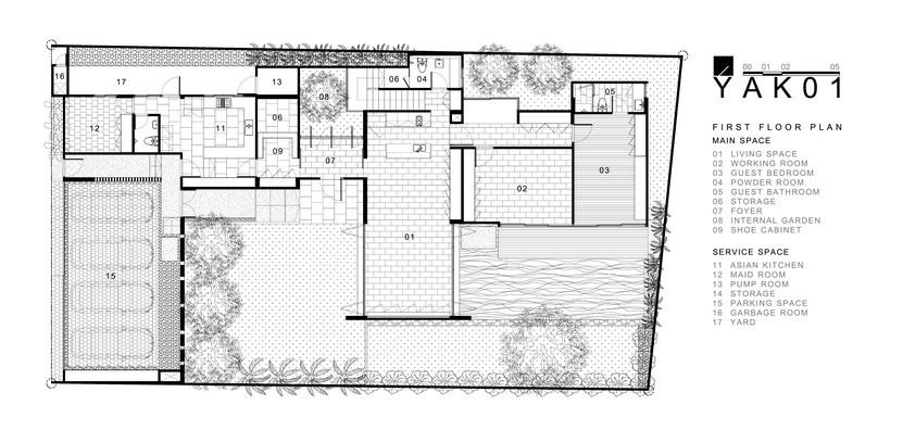 Gallery of yak01 aa d 16 for Modern minimalist house designs and architectures