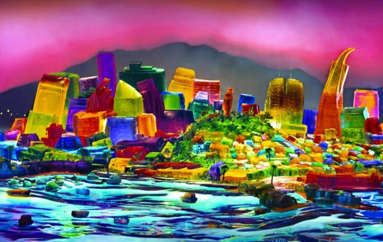 Arte e Arquitetura: Cidades Americanas de Gelatina, imagem via www.plataformaurbana.cl