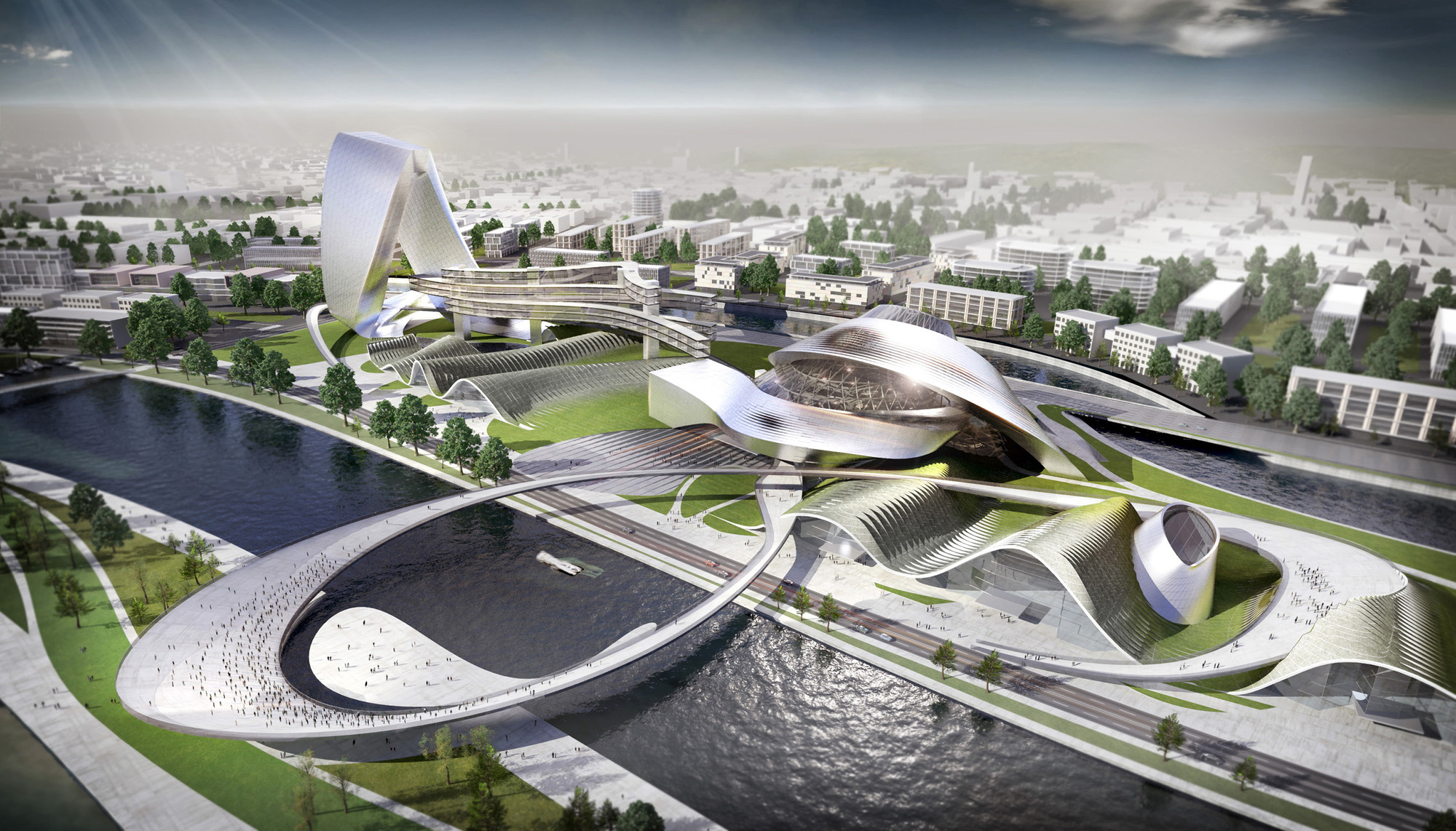 Culture Art Center Changsha Coop Himmelb L Au Archdaily
