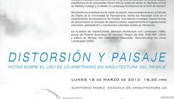 """Charla """"Distorsión y Paisaje"""" de Anita Berrizbeitía"""