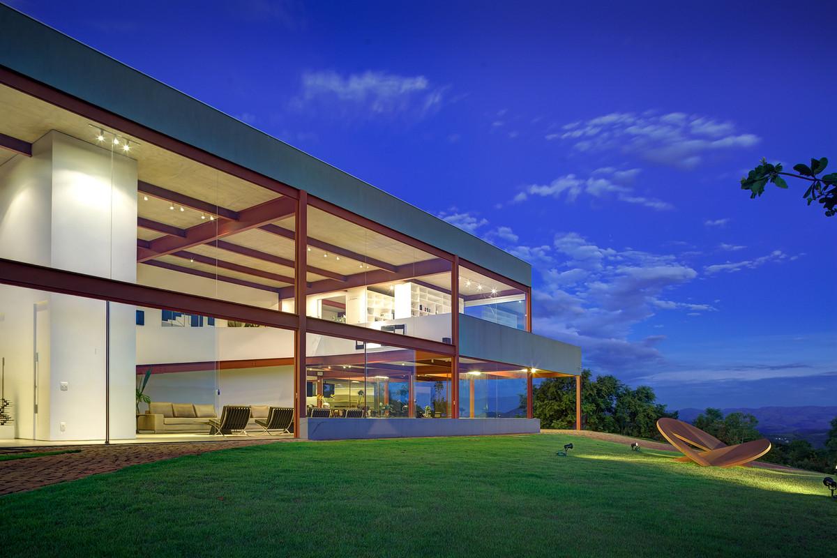 Nova Lima House / Denise Macedo Arquitetos Associados, © Gustavo Xavier