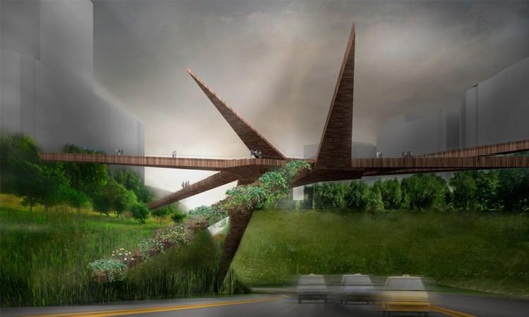 Puente Peatonal en Miraflores / OOIIO, Cortesía de OOIIO Arquitectura